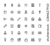 editable 36 chef icons for web... | Shutterstock .eps vector #1284627910