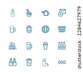 editable 16 can icons for web... | Shutterstock .eps vector #1284627979