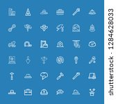 editable 36 build icons for web ... | Shutterstock .eps vector #1284628033