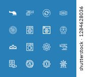 editable 16 spin icons for web... | Shutterstock .eps vector #1284628036