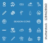 editable 22 season icons for... | Shutterstock .eps vector #1284628060