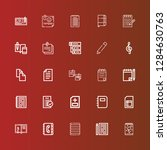 editable 25 notepad icons for...   Shutterstock .eps vector #1284630763