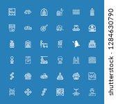 editable 36 warehouse icons for ... | Shutterstock .eps vector #1284630790