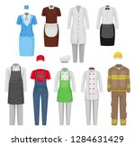 flat vectoe set of staff... | Shutterstock .eps vector #1284631429