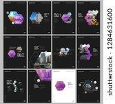 minimal brochure templates with ... | Shutterstock .eps vector #1284631600
