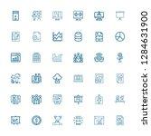 editable 36 presentation icons... | Shutterstock .eps vector #1284631900