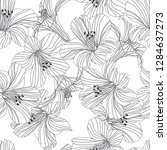 vector floral seamless pattern. ... | Shutterstock .eps vector #1284637273
