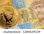 bitcoin coins new virtual money ...   Shutterstock . vector #1284639139