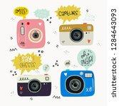 hipster style vector... | Shutterstock .eps vector #1284643093