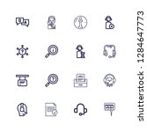 editable 16 answer icons for... | Shutterstock .eps vector #1284647773
