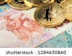 bitcoin coins new virtual money ... | Shutterstock . vector #1284650860