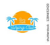 surfing logo for surfing... | Shutterstock .eps vector #1284652420