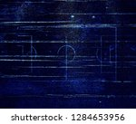soccer field lines on old paper | Shutterstock . vector #1284653956