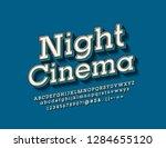vector stylish emblem night... | Shutterstock .eps vector #1284655120