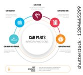abstract infographics of car... | Shutterstock .eps vector #1284665299