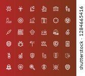 editable 36 virus icons for web ... | Shutterstock .eps vector #1284665416