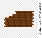 destroyed brick wall icon. flat ... | Shutterstock . vector #1284667060