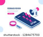 feedback and review on mobile... | Shutterstock .eps vector #1284675703