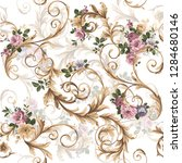 classic baroque pattern with... | Shutterstock .eps vector #1284680146