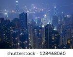 skyline of hong kong city from ... | Shutterstock . vector #128468060