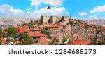 Ankara is capital city of Turkey - View of Ankara castle and interior of the castle