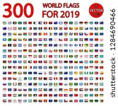 300 world flags for 2019 | Shutterstock .eps vector #1284690466