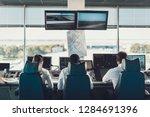 center of dispatching... | Shutterstock . vector #1284691396
