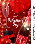 happy valentine's day flyer.... | Shutterstock .eps vector #1284692893