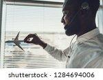 center of dispatching...   Shutterstock . vector #1284694006