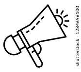 siren megaphone icon. outline... | Shutterstock . vector #1284696100