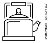 old kettle icon. outline old... | Shutterstock . vector #1284696169