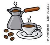 illustration of hot coffee... | Shutterstock .eps vector #1284701683
