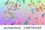 disco background. colorful... | Shutterstock .eps vector #1284704269