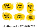 set of yellow sale icon banners ... | Shutterstock .eps vector #1284707269