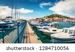 sunny summer view of tribunj... | Shutterstock . vector #1284710056