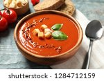 bowl with delicious fresh... | Shutterstock . vector #1284712159