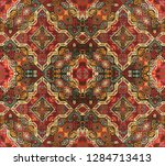 geometric abstract pattern with ... | Shutterstock . vector #1284713413