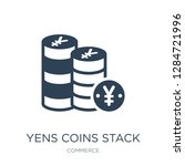 yens coins stack icon vector on ... | Shutterstock .eps vector #1284721996