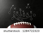chalkboard with football game... | Shutterstock . vector #1284722323