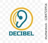 decibel logo isolated on white...   Shutterstock .eps vector #1284723916