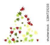 cute vegetative pattern with... | Shutterstock .eps vector #1284725233