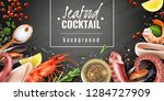 seafood cocktail mix realistic... | Shutterstock .eps vector #1284727909