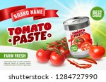 realistic tomato ads poster... | Shutterstock .eps vector #1284727990