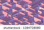 isometric background with a... | Shutterstock .eps vector #1284728080