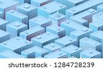 isometric background with a... | Shutterstock .eps vector #1284728239