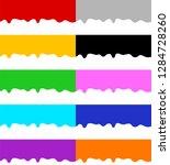 set of seamless horizontal... | Shutterstock .eps vector #1284728260
