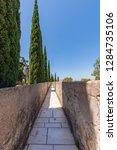 along the alley of the alcazaba ...   Shutterstock . vector #1284735106
