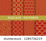 8 different elegant classic... | Shutterstock .eps vector #1284736219