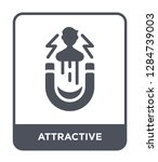 attractive icon vector on white ... | Shutterstock .eps vector #1284739003