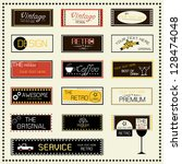 set of retro labels  vector... | Shutterstock .eps vector #128474048